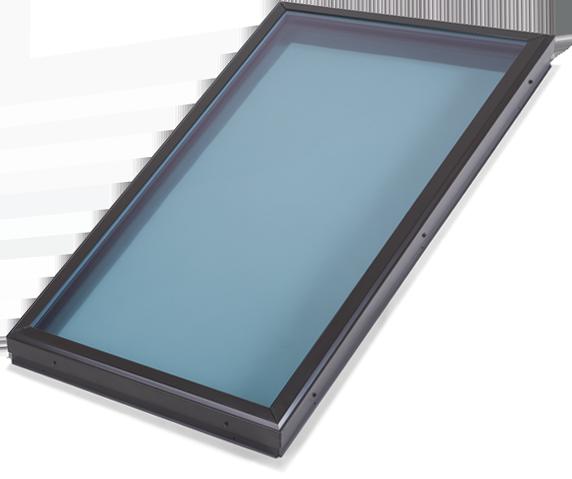 Flat Modern Blue Glass Skylight