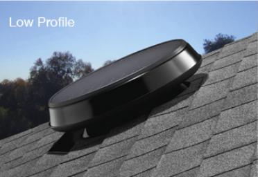 Low Profile Solar Attic Fan