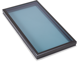 Flat Modern Blue Glass Skylight in West Covina, CA