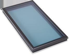 Flat Modern Blue Glass Skylight in Redondo Beach, CA